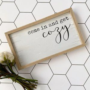 Rustic Quote Framed Wall Sign